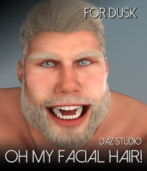 Oh My Facial Hair for Dusk or  Dusk SE 3D Figure Assets RedzStudio