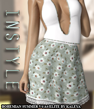InStyle - Bohemian Summer V4/A4/Elite 3D Figure Assets -Valkyrie-