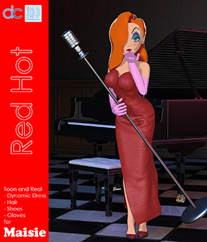 Red Hot Character and Clothes for Maisie 3D Figure Assets Deecey