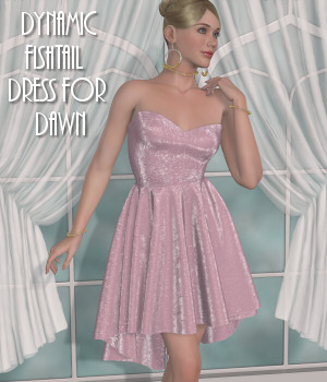 Dawn's Dynamics-C-Fishtail Dress  3D Figure Assets Lully