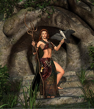DMs Druid Cave - Extended License 3D Models 3D Figure Assets Extended Licenses DM