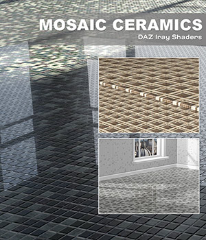 DAZ Iray - Mosaic Ceramics 2D Graphics Merchant Resources Atenais