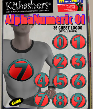 Kitbashers_AlphaNumeric_Symbols-01 -- By MightyMite for G3M 3D Figure Assets MightyMite