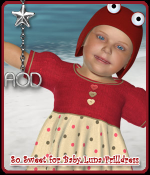 So Sweet for Baby Luna Frill dress 3D Figure Assets ArtOfDreams