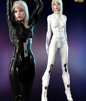Jupiter Armor iray Materials for SF BodySuit and SF Boots 3D Figure Assets benalive