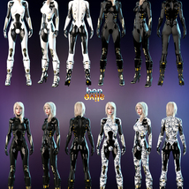 Jupiter Armor iray Materials for SF BodySuit and SF Boots image 2