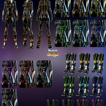 Jupiter Armor iray Materials for SF BodySuit and SF Boots image 4