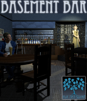 Basement Bar 3D Models BlueTreeStudio