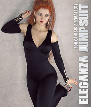 Eleganza Jumpsuit for Genesis 3 Females 3D Figure Assets lilflame