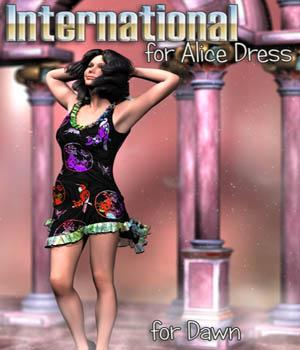 Immortal_Moments_Art - International for Alice Dress by Lully 3D Figure Assets Immortal_Moments_Art