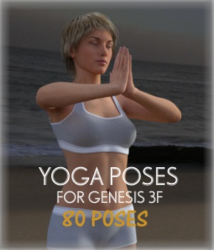 Yoga poses for G3F 3D Figure Assets jowolf999