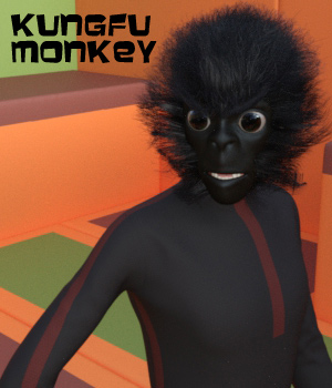 KungFu Monkey for Genesis 3 Male 3D Figure Assets Oskarsson