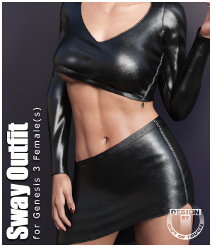 Sway Outfit for Genesis 3 Female(s) by outoftouch