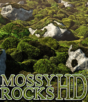 Flinks Mossy Rocks HD 3D Models Flink