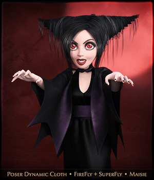 FRQ Dynamics: Vampire Outfit for Maisie 3D Figure Assets Frequency