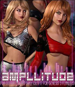 Amplitude for Sway Outfit 3D Figure Assets ShanasSoulmate