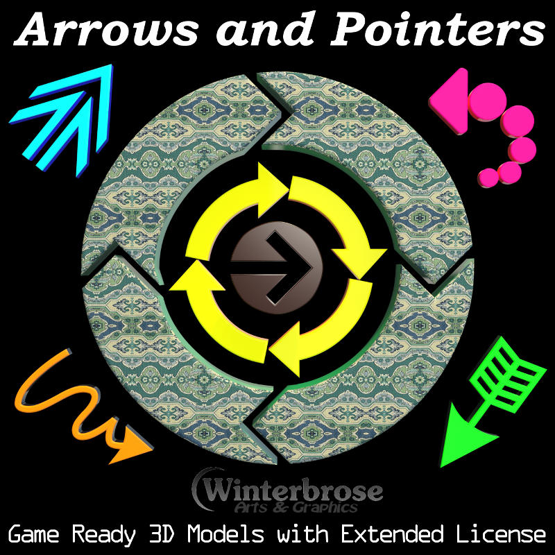 ARROWS and POINTERS: Game Ready 3D Models with Extended License by Winterbrose