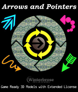 ARROWS and POINTERS: Game Ready 3D Models with Extended License 3D Game Models : OBJ : FBX 3D Models Extended Licenses Winterbrose