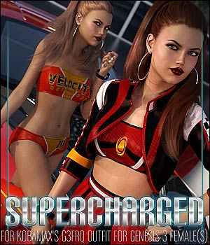 Supercharged for G3FRQ Outfit 3D Figure Assets ShanasSoulmate