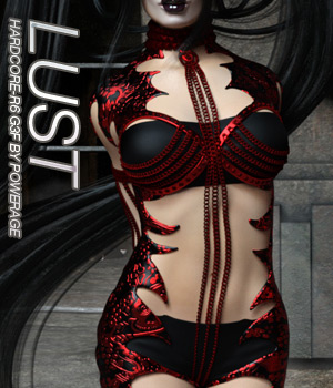 LUST - HARDCORE-R6 for G3 females 3D Figure Assets Anagord