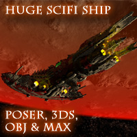 Paklet P7 Destroyer: Poser,OBJ,3DS,MAX - Extended License 3D Models Extended Licenses skynet3020