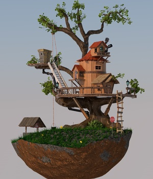 GNBD TREE HOUSE FOR VUE 3D Models giko