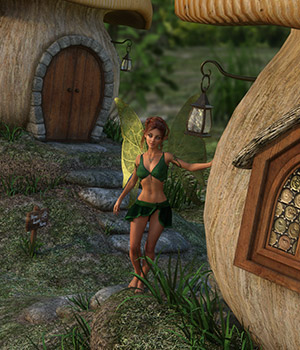 DMs Fairy Sweet Home - Extended License 3D Figure Assets 3D Models Extended Licenses DM