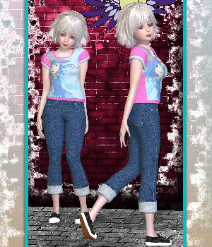 Maisie Fashion-2 3D Figure Assets 3DTubeMagic