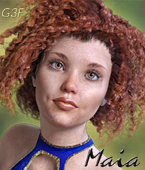 Maia for Genesis 3 Females 3D Figure Assets Mar3D