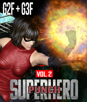 SuperHero Punch for G2F & G3F Volume 2 3D Figure Assets GriffinFX