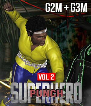 SuperHero Punch for G2M & G3M Volume 2 3D Figure Assets GriffinFX