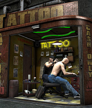 Tattoo Salon 3D Models coflek-gnorg