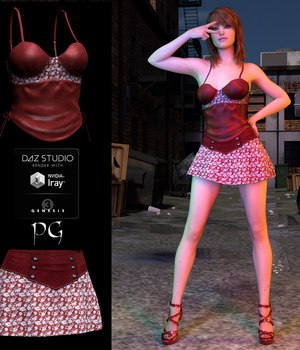 Ambrosial Outfit for G3F 3D Figure Assets PsychoGinger