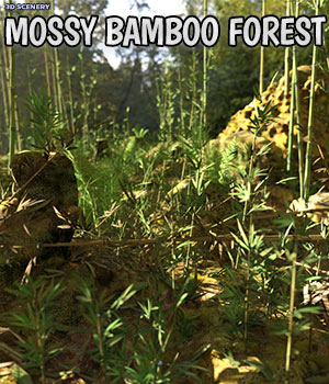 3D Scenery: Wild Mossy Bamboo Forest 3D Models ShaaraMuse3D