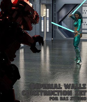 Imperial Walls Construction Kit - for DAZ Studio  3D Models VanishingPoint