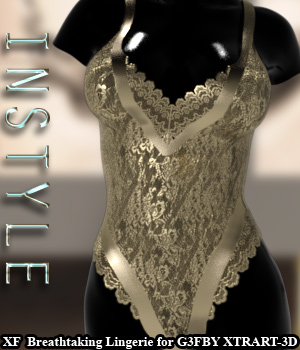 InStyle - X-Fashion Breathtaking Lingerie for Genesis 3 Females 3D Figure Assets -Valkyrie-