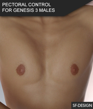 Pectoral Control for Genesis 3 Male Based Characters 3D Figure Assets SF-Design