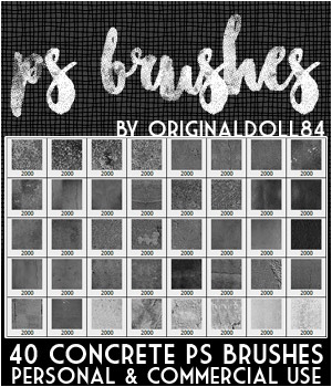 PS Brushes: Concrete 2D Graphics Merchant Resources MarieMcKennaDesigns