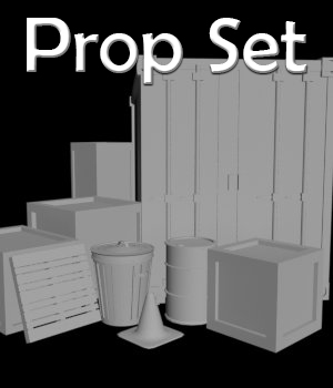 Prop Set - Extended License 3D Game Models : OBJ : FBX 3D Models Extended Licenses RPublishing