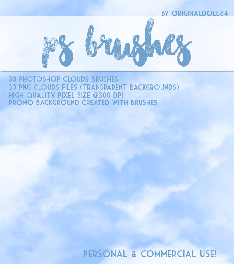 PS Brushes: Clouds 2D Graphics Merchant Resources