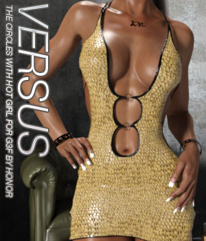 VERSUS - The Circles With Hot Girl For Genesis 3 Females 3D Figure Assets Anagord