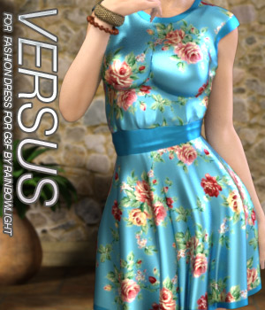 VERSUS - Fashion Dress for Genesis 3 Female(s) 3D Figure Assets Anagord