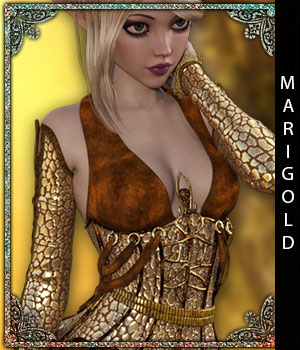 Marigold for Goldberry outfit 3D Figure Assets sandra_bonello