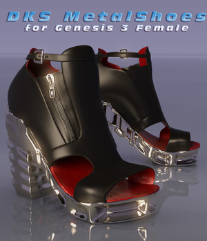 DKS MetalShoes for G3F 3D Figure Assets MarcosDk