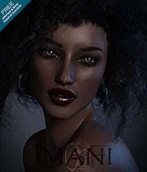 CB Imani G3F 3D Figure Assets CynderBlueDesigns