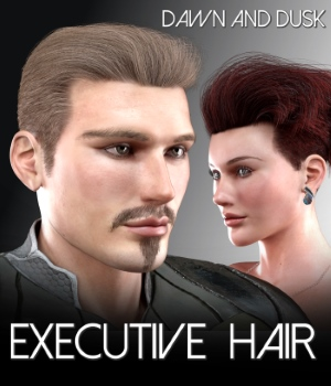 Executive Hair for Dawn and Dusk 3D Figure Assets RedzStudio