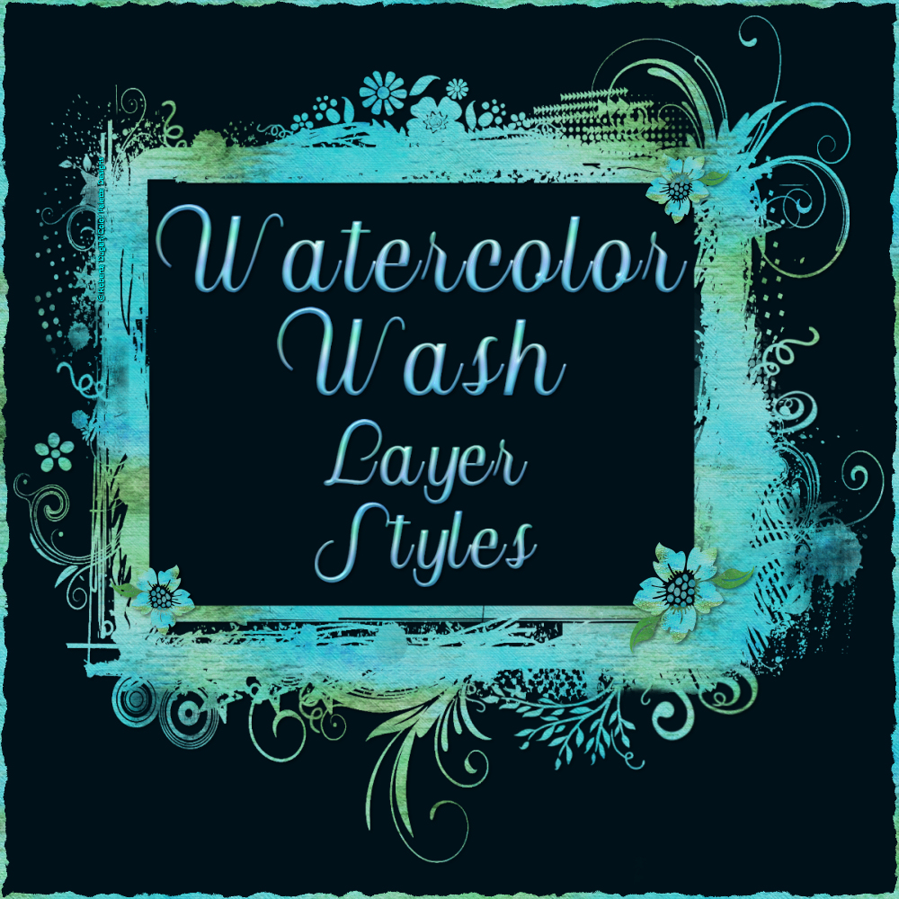 Watercolor Wash Layer Styles by fractalartist01
