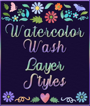 Watercolor Wash Layer Styles 2D Graphics Merchant Resources fractalartist01