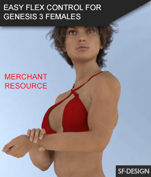 Easy Flex - Muscle Flexing Control for Genesis 3 Females and Merchant Resource 3D Figure Assets Merchant Resources SF-Design