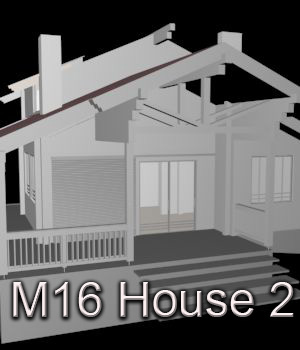 M16 House 2 - Extended License 3D Game Models : OBJ : FBX 3D Models Extended Licenses RPublishing